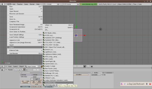 blender export obj