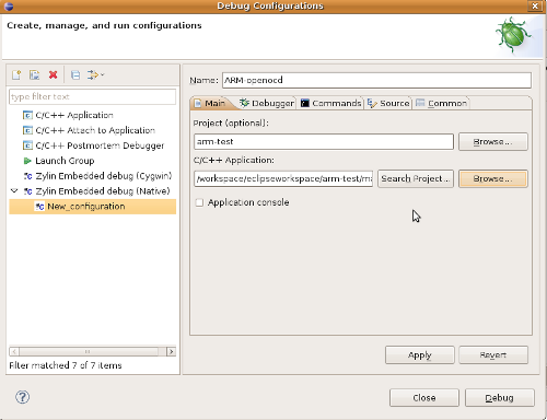 debug with openocd with eclipse