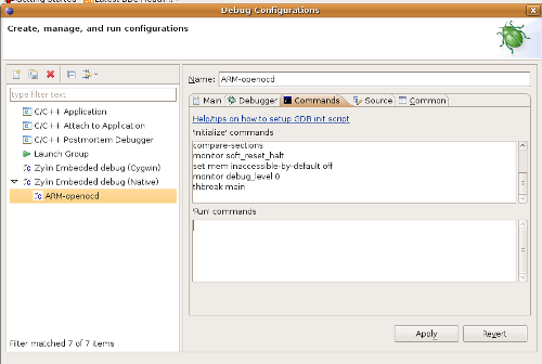 debug with openocd and eclipse